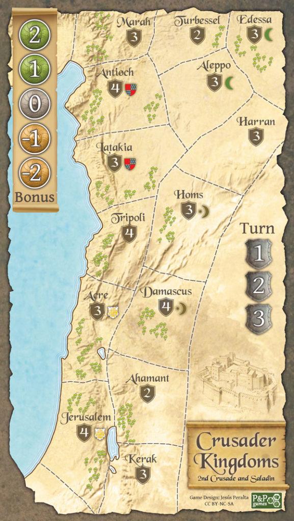 Crusader kingdoms map